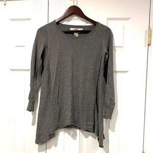 Studio M Womens Gray Flow Sweater Top Sz XS